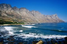 South Africa - Beach with mountains in background.