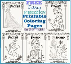 One Savvy Mom™ | NYC Area Mom Blog : Disney Frozen Free Printable Anna, Elsa and Olaf Coloring Pages - Grab A Box Of Crayons!