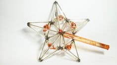 Vintage STAR Tree Top, use for home decor, Christmas tree decoration.