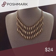 Day to Day necklace...with double lobster clasps Very hip in Matt gold tones.... Premier Designs Jewelry Necklaces