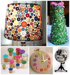 Coisas maravilhosas feitas com botões....;)  Veja mais em http://www.comofazer.org