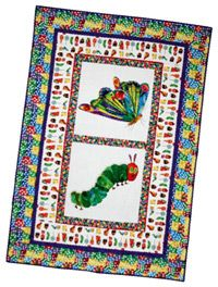 Perfect match to the caterpillar quilt I already made!