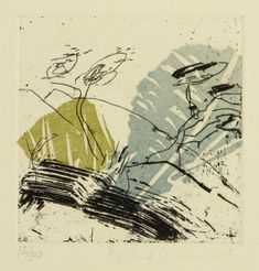 Danielle Creenaune, Corner Paddock II, woodcut, etching, chine colle, drypoint on 380 x 280 mm paper, from an edition of 30. NZ$225 i...