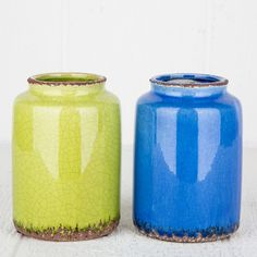 Colorful Crackle Vases