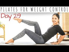 Welcome to Day 29 of the 30 Days Of Pilates Today's workout is about Pilates for Weight Control. It will help you to increase metabolism and to. Pop Pilates, Pilates Video, Pilates For Beginners, Pilates Workout, Beginner Pilates, Exercise, Leg Workout At Home, Home Workout Videos, At Home Workouts