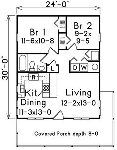 Guest House 30 X 25 House Plans The Tundra 920 Square
