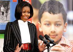 Bei einer Veranstaltung zum Thema Übergewicht bei Kindern im Januar 2010 trägt...