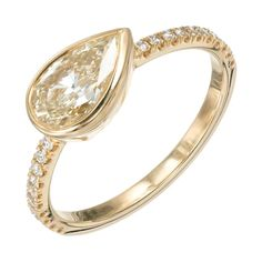 Why Rings with Pear-Cut Gems Are Unconventional Favorites | The Study Estate Engagement Ring, Pear Cut Engagement Rings, Platinum Engagement Rings, Pear Diamond, Pear Shaped Diamond, Diamond Cuts, Gold Set, Eternity Ring, Gems