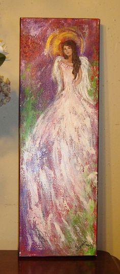"""""""Grace"""" angel painting by Florinda"""