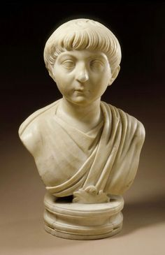 Marble portrait of a boy. Roman. Trajanic Period, c . 100 A.D. | Los Angeles County Museum of Art