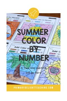 Summer color by number math worksheets are a fun way for kids to practice addition and subtraction in first grade. Use these printable pages for morning work for students or for early finishers in the classroom or homeschool setting. Summer color by number sheets include the beach, sailing, sun, and summer foods - perfect for this summer! Kids practice addition and subtraction to 20 , place value and fractions. #SummerMath Place Value Blocks, Place Values, Addition Games, Addition And Subtraction, Math Stations, Math Centers, Teaching Subtraction, Early Finishers, First Grade Classroom