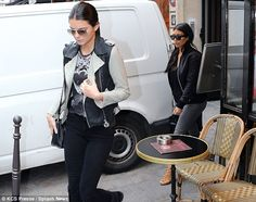 Fashion time: The sisters reportedly paid a visit to the Balmain showroom and then Valentino's office
