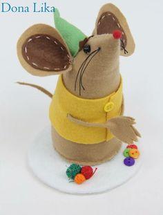 Ratinhos em feltro - trio