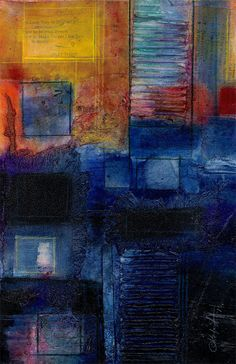 Mixed media Abstract  3  by Kathy Morton Stanion  http://www.etsy.com/shop/KathyMortonStanion