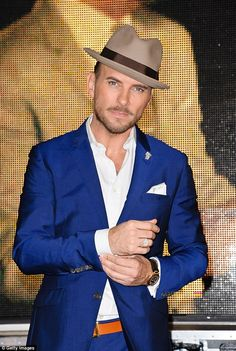 Pin-up: Former Bros singer Matt Goss will be hoping to boost his career in the UK by appearing on the show New Dance Moves, Matt Goss, Rochelle Humes, Pork Pie Hat, The Boogie, Bros, Strictly Come Dancing, Flat Cap, Caps Hats
