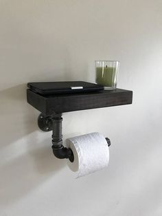 Industrial Toilet Roll Holder with shelf  Toilet Paper Holder