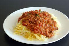 Lentil Marinara Sauce with Spaghetti Squash