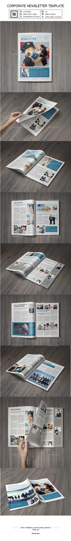 Indesign Newsletter Template Vol   Newsletter Templates Print