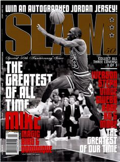 SLAM 50: Chicago Bull Michael Jordan appeared on the cover of the 50th issue of SLAM Magazine (2001, cover 1 of 3).