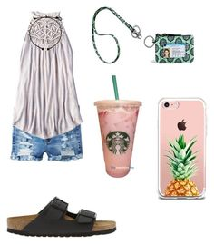 """""""c a n n o t w a I t f o r t h e s u n s h I n e☀️"""" by kaelyn-grace-1 on Polyvore featuring American Eagle Outfitters, Birkenstock and The Casery"""