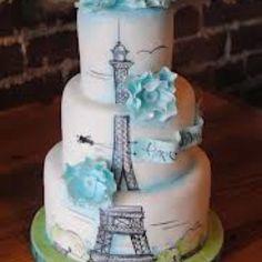 Paris themed cake.