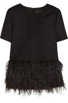 J.CREW Collection feather-embellished wool-flannel top (aka the most perfect top ever created)