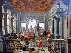 Bartholomeus van Bassen  Lazarus im Palast des reichen Mannes 1620/30