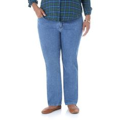 Riders by Lee Women's Plus-Size Classic Fit Straight Leg Jeans, Size: 24WM, Multicolor