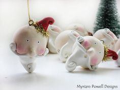 Whimsical Santa ornament   Christmas  Paper by MyriamPowellDesigns, $15.00