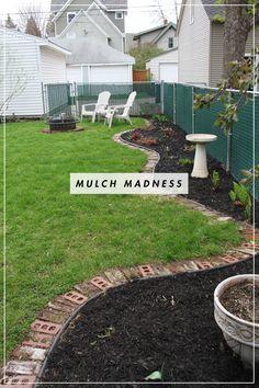 black mulch u0026 edging - Black Rubber Mulch