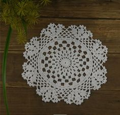 Handmade Crochet Doilies Coasters White Jacpuard Wedding Home Decoration Crochet Table Runner, Crochet Tablecloth, Crochet Doilies, Crochet Flower Patterns, Crochet Flowers, Crochet For Kids, Crochet Baby, Cotton Crafts, Crochet Ornaments