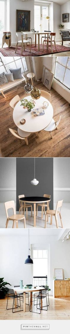 Artek - 91 et 95 Round Tables - Alvar Aalto. Table And Chairs, Dining Table, Dining Chairs, Kitchen Decor, Kitchen Design, Kitchen Ideas, Nordic Design, Nordic Style, Best Kitchen Cabinets