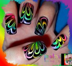 Love this water marble nail design!