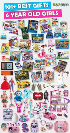 Browse our Gift Guide featuring 300+ Best Toys for Girls. Discover educational toys, unique kids gifts, kids games, kids books, and more for your 6 year old girl. Make her Birthday or Christmas extra magical with these delightful picks she'll love! #giftguide #birthdaygifts #christmasgifts #giftideasforkids