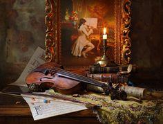 Violin & Painting by Andrey Morozov