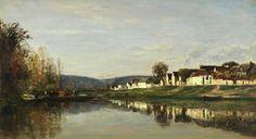 Charles François Daubigny, Barbizon, Village of Gloton,oil on canvas