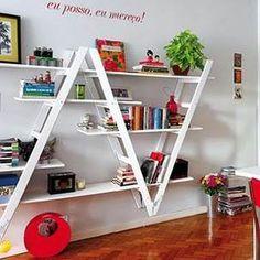 Jak zrobić regał na książki z drabiny?