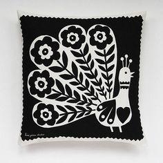 pablo peacock cushion cover by lisa jones studio | notonthehighstreet.com
