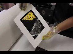 Making a Monoprint - YouTube