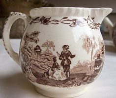 Mason's Watteau Cream Pitcher Brown by amyseverydayvintage on Etsy, $15.00