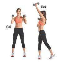 Dumbbell Alternating Shoulder Press and Twist