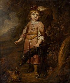 Portrait of a boy in Polish costume as a hunter by Matthias Jansz van den Bergh, ca. 1640 (PD-art/old), Slovenská národná galéria (SNG)