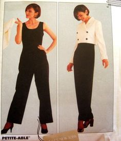 McCALLS SEWING PATTERN - 8547 - Size Pt 4,6,8 Jacket and Jumpsuit