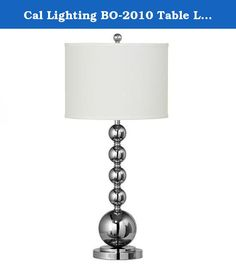 Cal Lighting BO-2010 Table Lamp with White Fabric Shades, Chrome Finish. Cal Lighting Has An Exceptional Line Of Quality Products Aimed To Please Even The Most Discerning Of Consumers. Relish In The Design Of This 1 Light Table Lamp; From The Details In The White Fabric, To The Double Coated Chrome Finish, This Table Lamp Is Not Only Durable, But A Tastefully Elegant Showpiece.