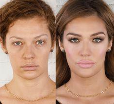 Schlupflider schminken - Ein Vorher-Nachher-Beispiel