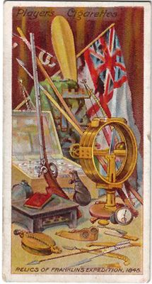 """""""Relics of the Franklin Expedition."""" Players' cigarette card from the collection of Russell Potter."""