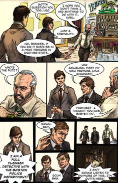 """Leo Kowalski was inspired by Richard Kuklinski.  This is a page from the upcoming comic book adaptation of the novel """"Foul Blood"""" available on Amazon and Kindle.  Karl Vincent: Vampire Hunter comics on Indyplanet and Kindle"""