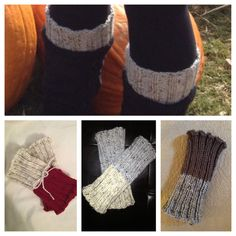Two Toned Boot Cuffs / Leg Warmer. Awesome! 2fer!