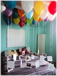 Ballons und Photos.