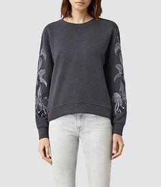 AllSaints- Women's Anya Sweatshirt (Ink Blue)